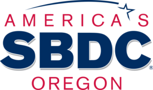 A vector image of the logo for America SBDC Oregon.